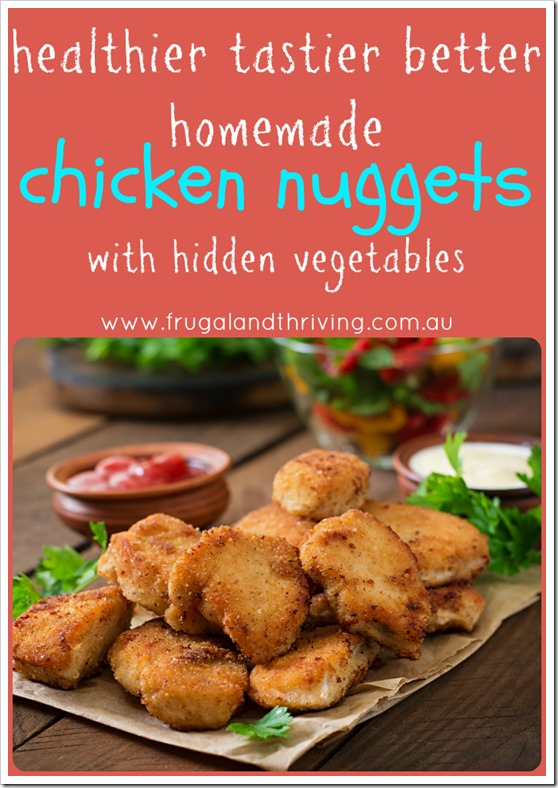 homemade chicken nuggets with hidden vegetables