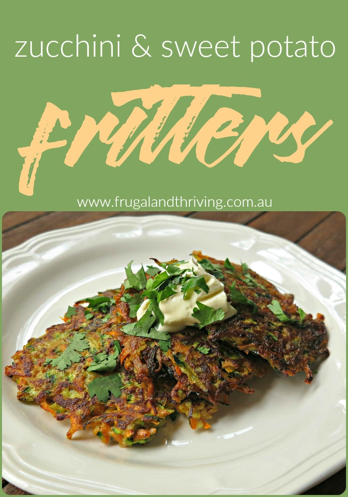 zucchini and sweet potato fritters