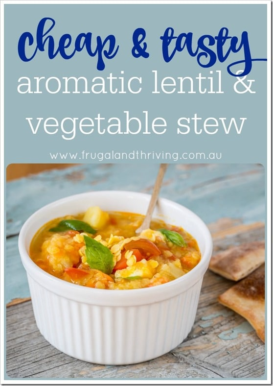 lentil and vegetable stew