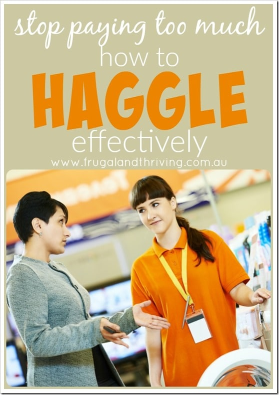 save money by haggling