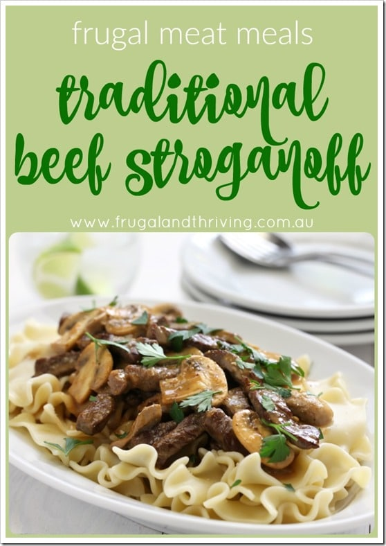 traditional beef stroganoff