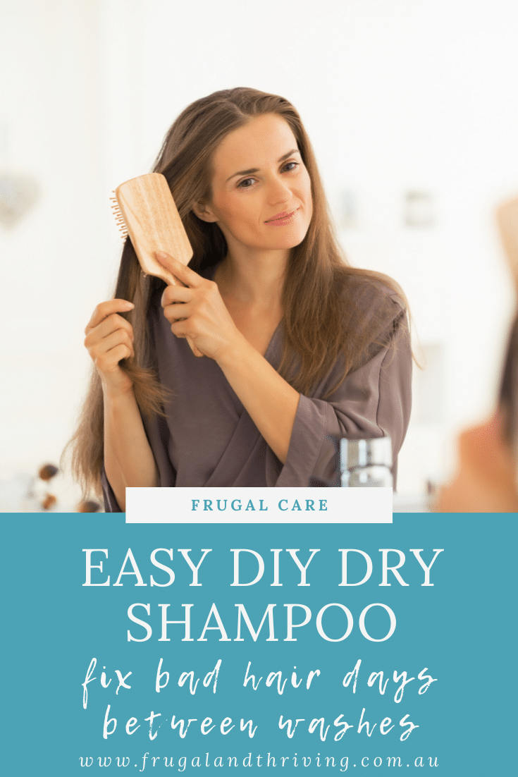 Don\'t spend a fortune on dry shampoo. Try this all-natural easy DIY dry shampoo alternative with ingredients you have at home already.