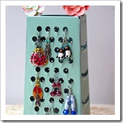 Homemade-Earring-Holder-using-an-Upcycled-Cheese-Grater turning the clock back
