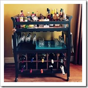 change table to bar cart home talk