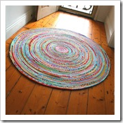 fabric rug from vintage ric rac