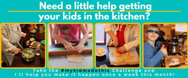 kids help in the kitchen challenge