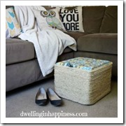 milk crate to ottoman