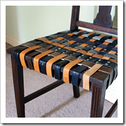 old belts to chair saved by love creatins