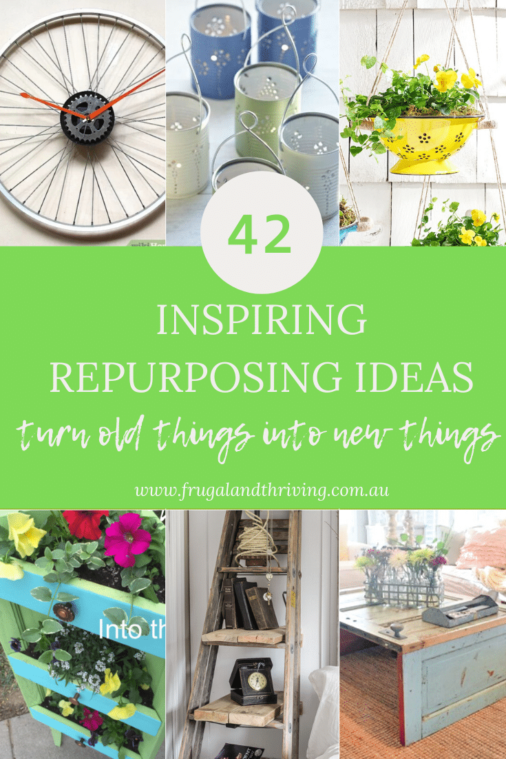 Make old things new again with these inspiring repurposing ideas. From kitchenware to old clothes, furniture to garden tools, there are ideas for everyone. #repurposing