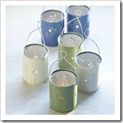 tin can lanterns craft foxes