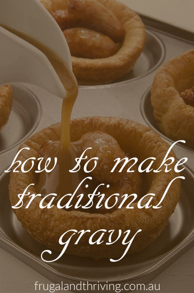 traditional homemade gravy