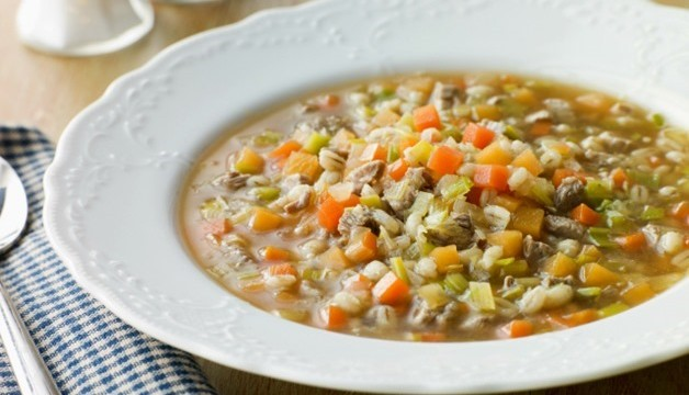 Bone and Barley Broth in the Slow Cooker