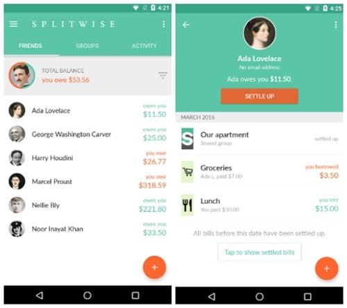 splitwise app small