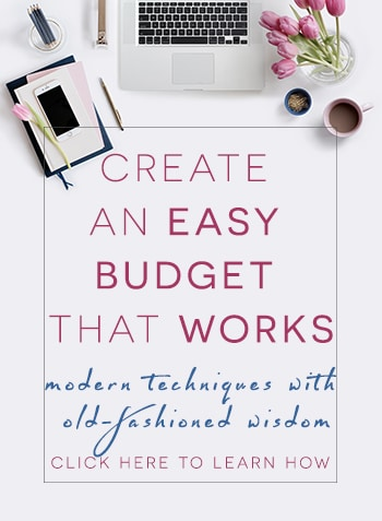 create an easy budget that works