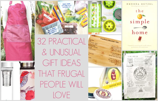 practical and unusual gift ideas for frugal people
