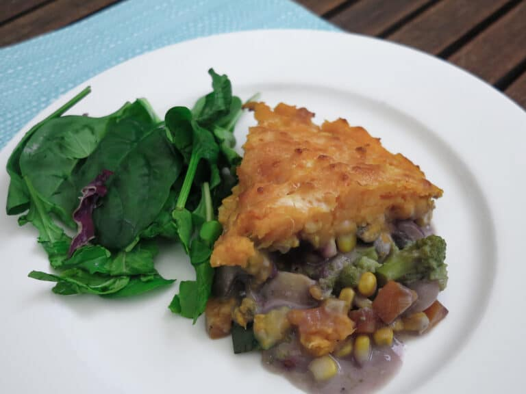 Sweet Potato Topped Vegetable Pie