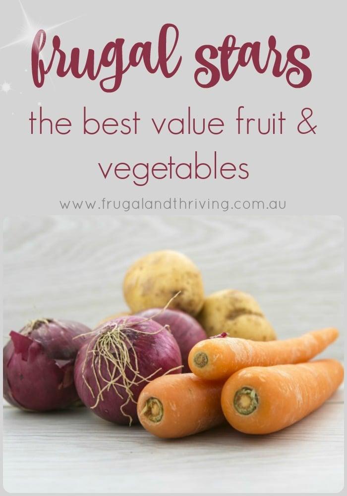 frugal fruit and vegetables
