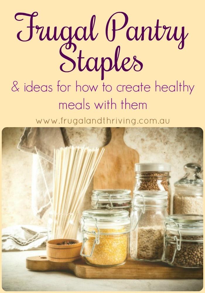 frugal pantry staples