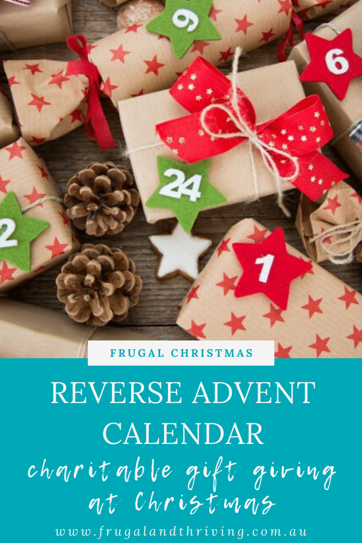 Reverse Advent Calendar and Other Ways to Give at Christmas