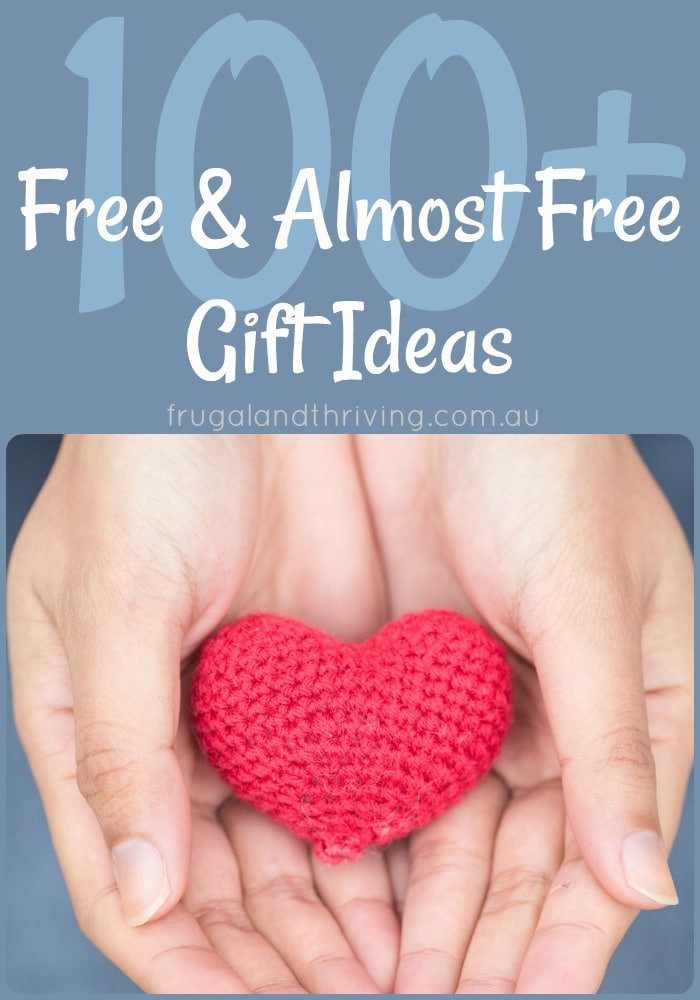 free and almost free gift ideas