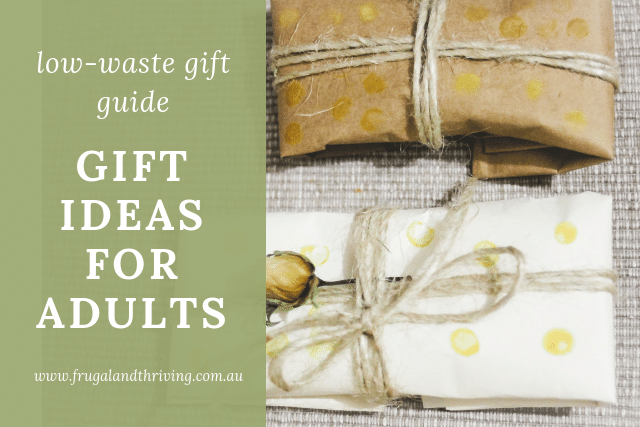 low waste gift ideas for adults