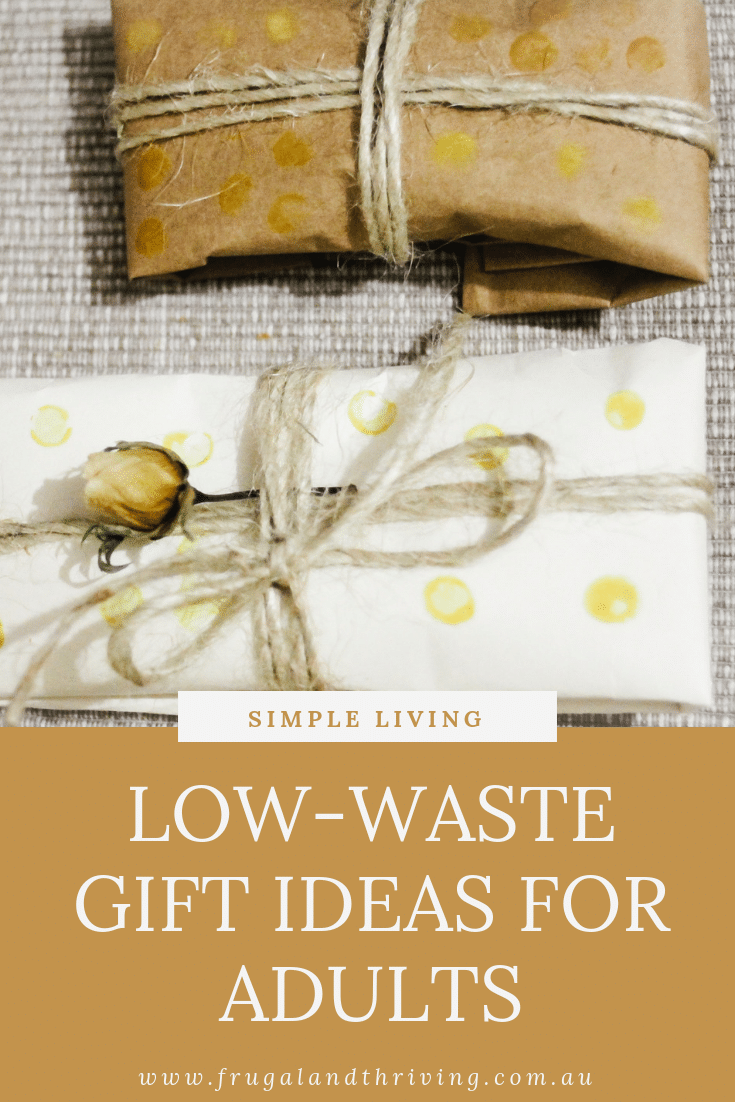 Looking for low-waste gift ideas that adults will enjoy receiving?  Check out this article for a list of gift ideas to suit all tastes and all budgets. #zerowaste #zerowastegiftguide #giftguide
