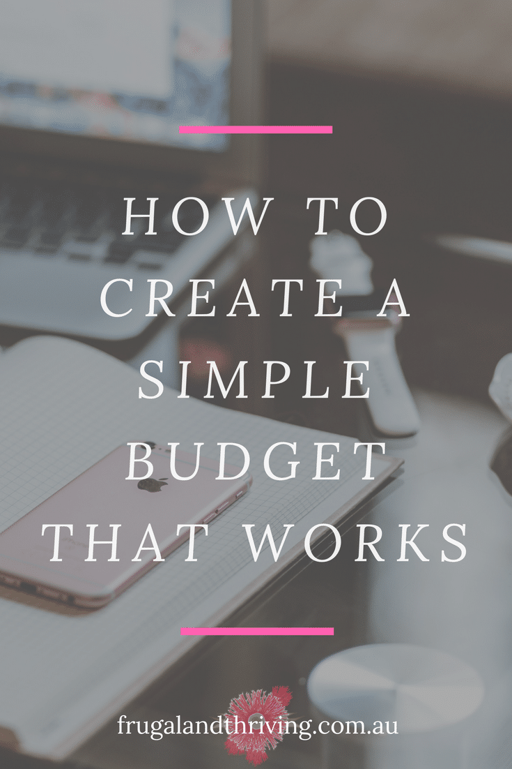 how to create a simple budget that works
