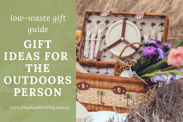 low waste gift guide for the outdoors person