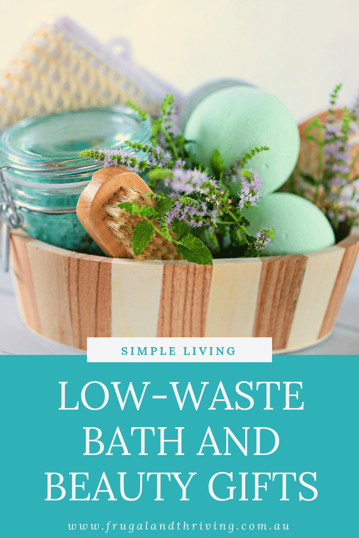 low waste bath and beauty gift ideas