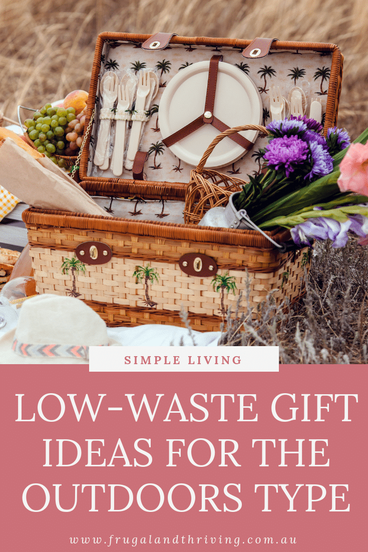 low waste gift ideas for the outdoors person pin