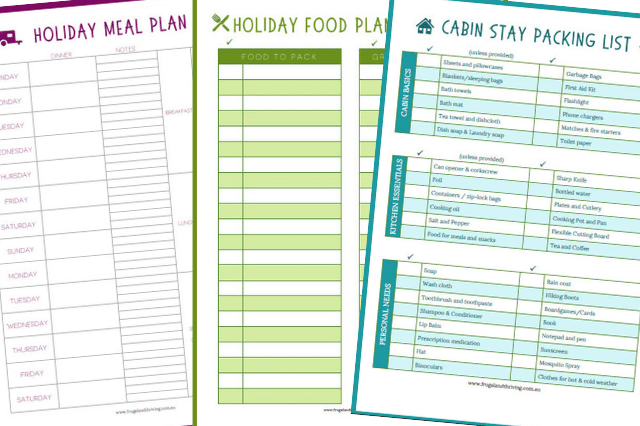 holiday meal planning printable checklists