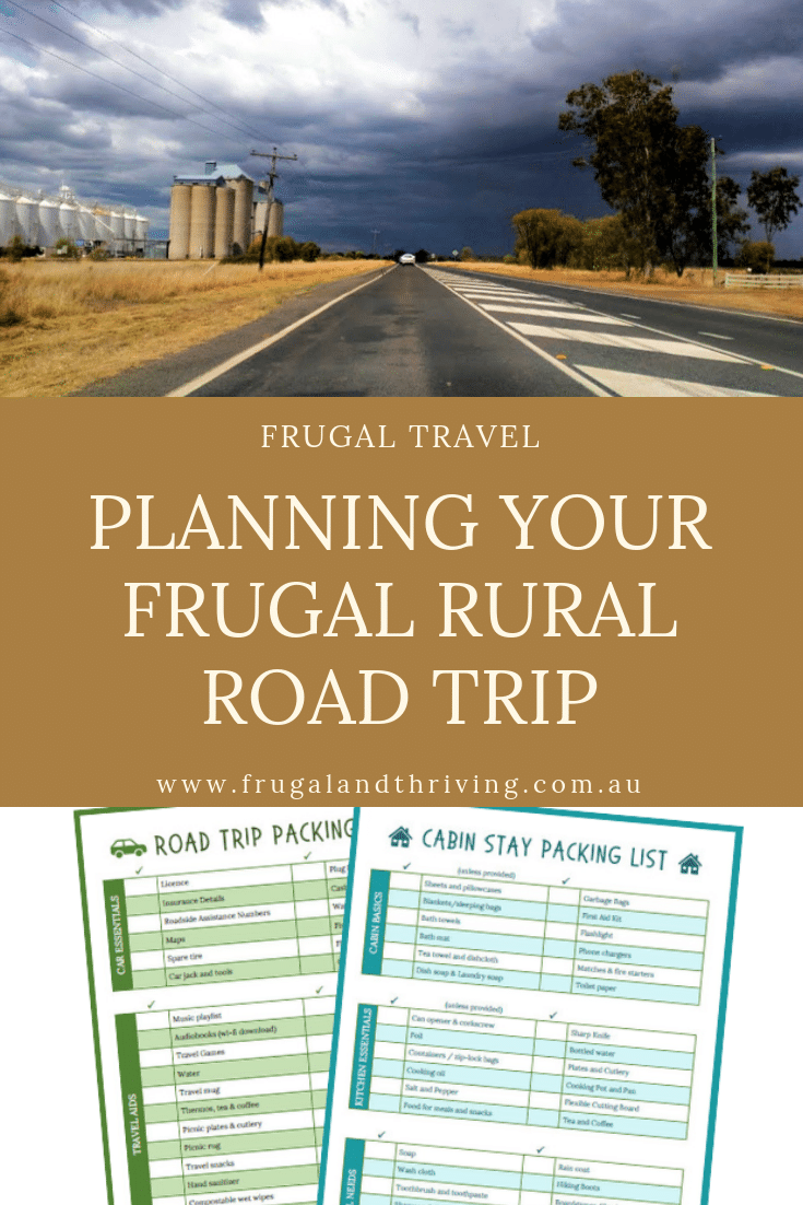 planning a frugal rural road trip