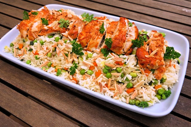 tandoori chicken and rice