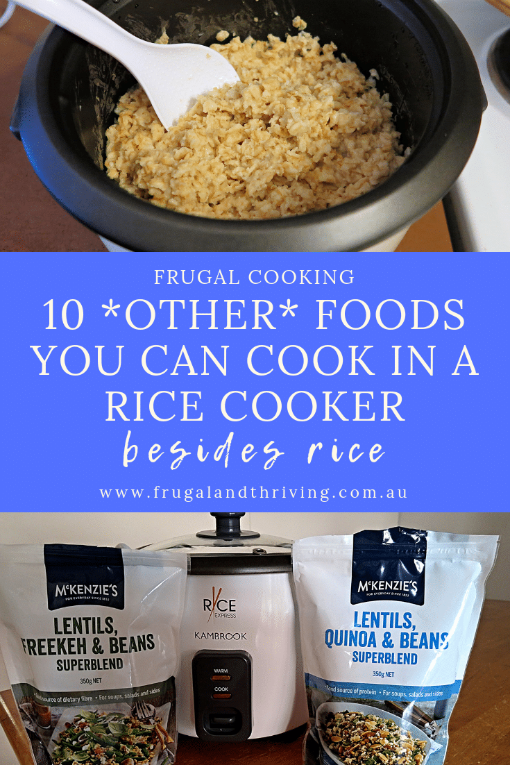 Rice isn\'t the only food you can cook in a rice cooker. This versatile and cheap appliance can cook a whole range of foods. Here are 10.  #frugalcooking, quickcooking, ricecooker