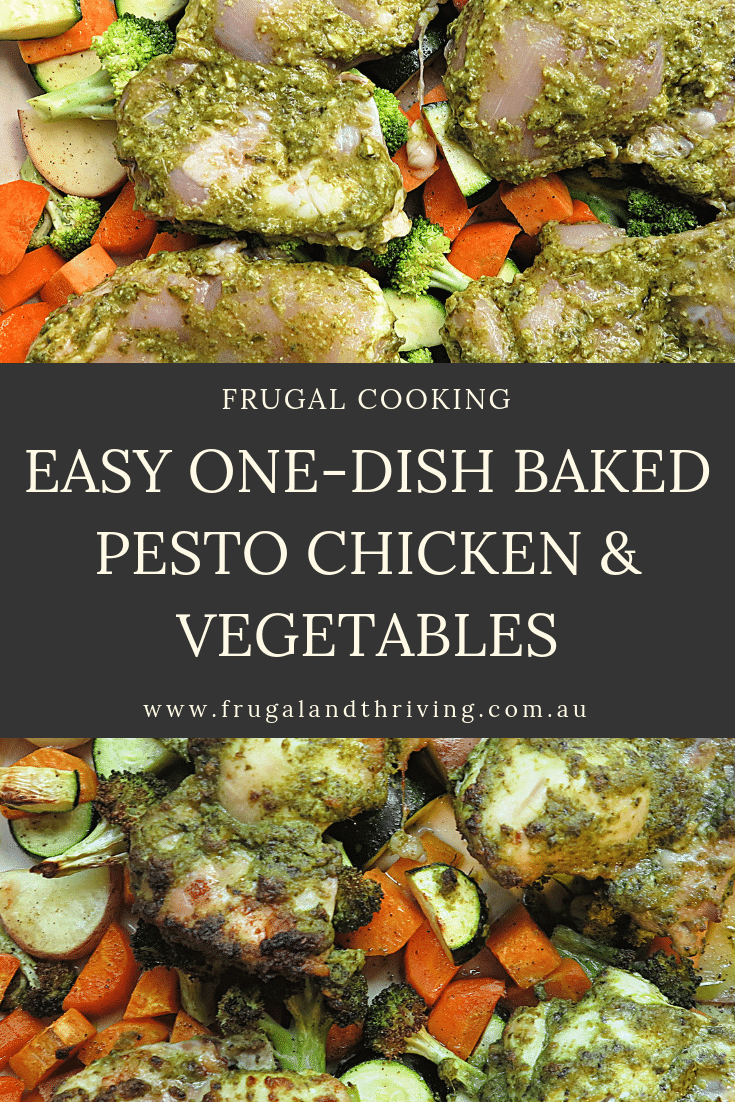 Easy One-Dish Baked Pesto Chicken and Vegetables
