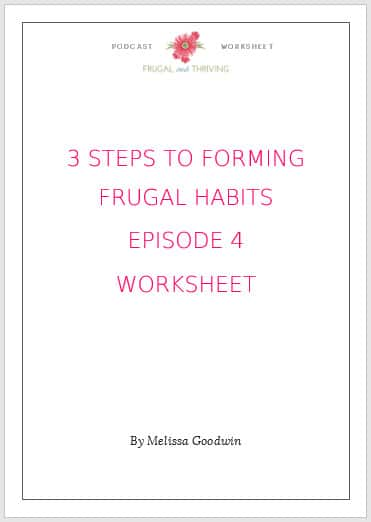 frugal habits worksheet