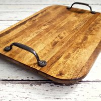 Farmhouse Style Tray from a Thrift Store Cutting Board