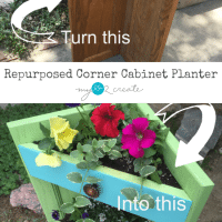 Corner Cabinet Planter
