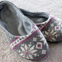 Make Slippers from an Old Sweater