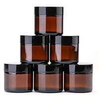 Amber Cosmetic Jars