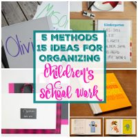 15 Fantastic Ideas for Organizing and Storing Children's School Work
