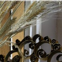 Recycled Toilet Paper Roll Wreath