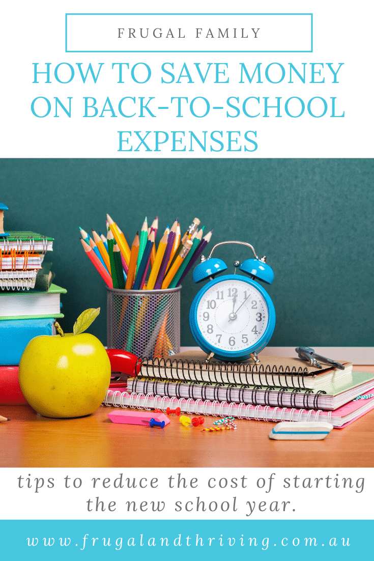 Lots of tips on how to save money on back-to-school expenses including uniform, stationery, devices, assistance programs and scholarships. #backtoschool #backtoschoolaustralia #frugalfamily
