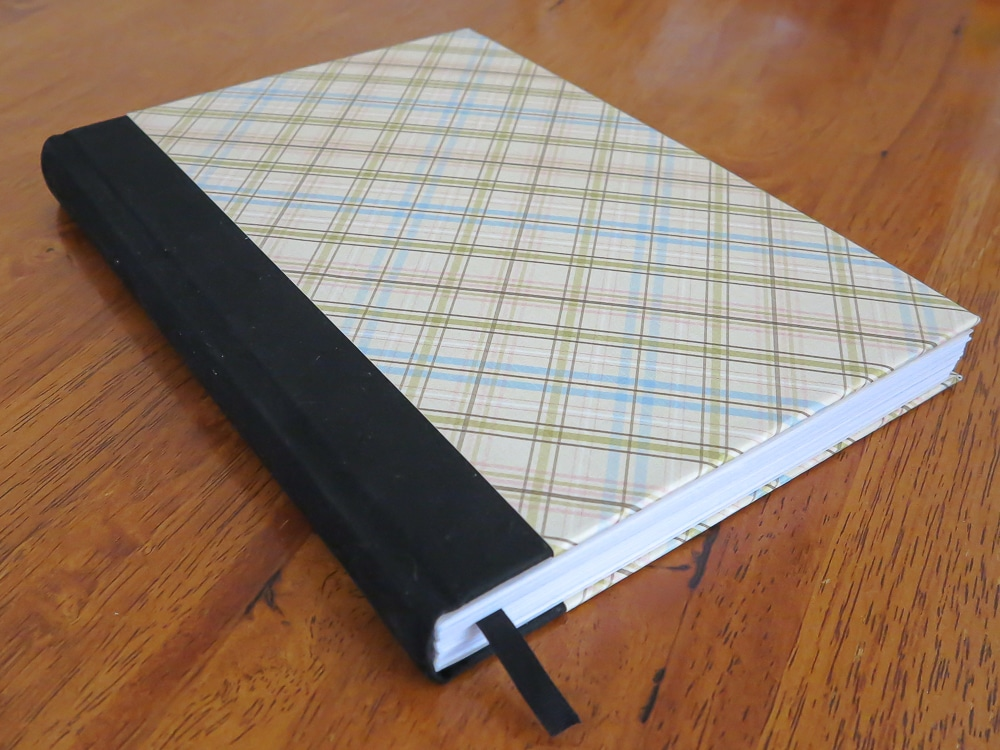 upcycle an old diary into a blank journal instructions