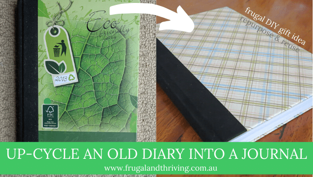 Upcycle your old diary into a journal