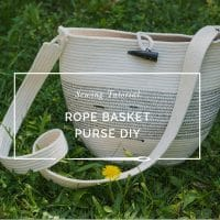 Rope Basket Purse Tutorial