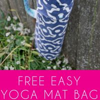 Free Yoga Mat Bag Tutorial