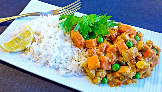 clear out the crisper kid-friendly curry plated