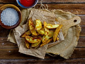 homemade crispy baked potato chips
