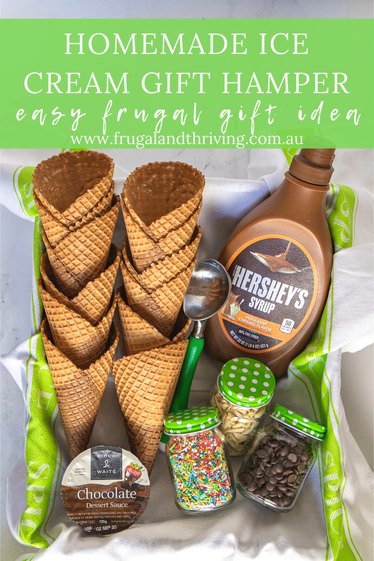 Easy DIY Ice Cream Gift Basket – Frugal and Fun